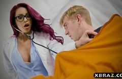 The Slutty Doctor Fucks Herself In The Penitentiary With A Gifted Detainee
