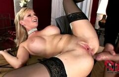 The Blonde Whore With Big Tits Gets A Big Cock In Her Ass