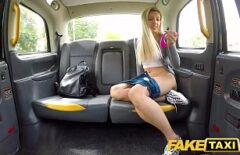 The Beautiful Blonde Shows Him That She Has A Toy In Her Pussy