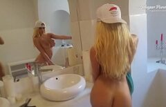 The Beautiful Blonde Is Getting Ready To Go Out With Her Boyfriend